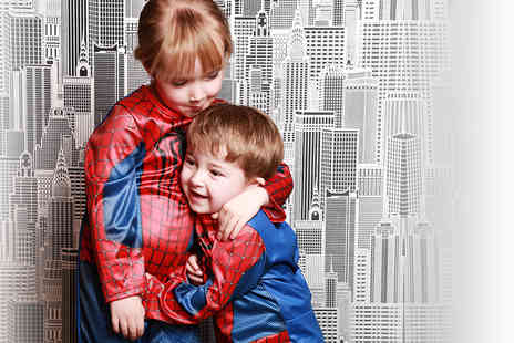 Xposure Studios - Up to three hour Marvel superhero inspired photoshoot for up to two children including 11 prints - Save 78%