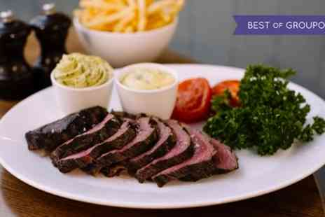 Rowleys - Chateaubriand Steak with Unlimited Fries, a Side and a Glass of Wine for Two or Four - Save 46%