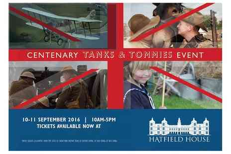 Hatfield House - Tickets for One, Two or a Family to Centenary Tanks and Tommies Event  On 10 and 11 September - Save 21%