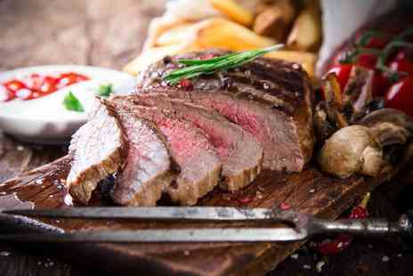 The Hilton - Steak and wine for two - Save 52%