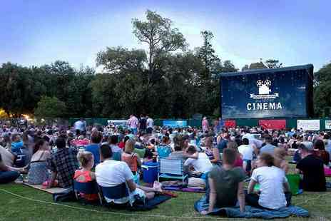Films Under the Stars - Two tickets to an outdoor cinema experience with Films Under Stars choose from 10 movies and four locations - Save 27%