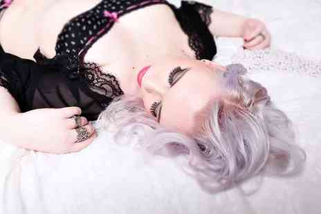 Chique Photography - Three hour MAC makeover Burlesque photoshoot with bubbly for two - Save 77%
