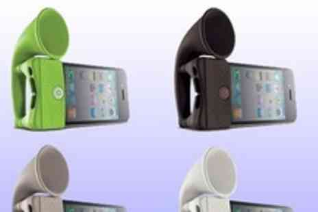 Gifts4u - Amplified iphone horn speaker for extra volume on your calls, music - Save 80%