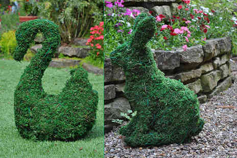 Internet Shop UK - Artificial garden topiary animals choose from squirrel, elephant, dog, rabbit and swan designs - Save 73%