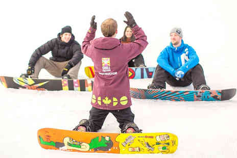 Chill Factore - One hour and 50 minute beginners ski or snowboard lesson - Save 56%