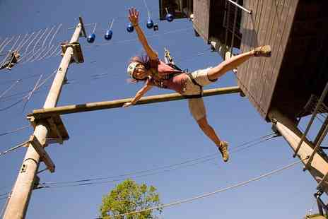 Aerial Extreme - Childs or Adults high ropes adventure experience - Save 50%
