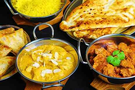 Aroma Indian Restaurant - Three Course Indian Meal with Sides and Wine for Up to Four - Save 0%