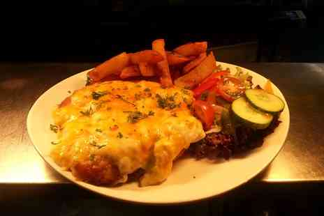 The Buck Inn - Full Chicken Parmesan with Chunky Chips and Salad for Two - Save 50%