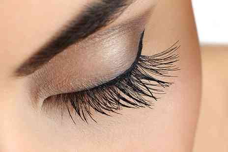 Beautique - Full Set of Eyelash Extensions with Optional Brow Shape and Tint - Save 60%