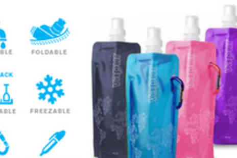 Gifts 4 U - Foldable, Reusable, Attachable Water Bottle just for One - Save 62%