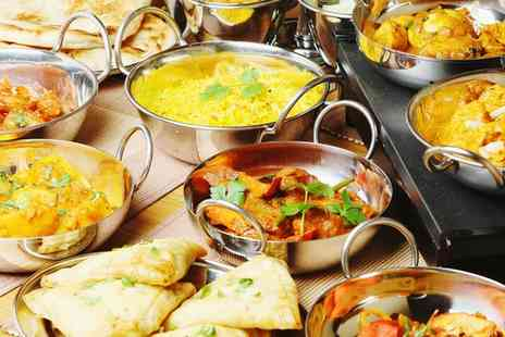 Mumbai Square - Two Course Indian Meal with Wine for Two or Four - Save 70%