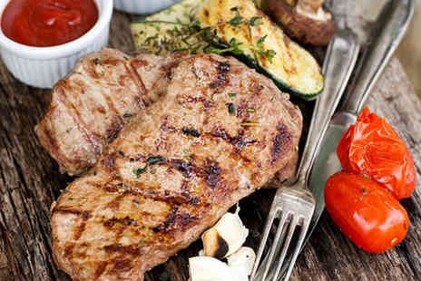 Rendezvous Casino Brighton Marina - 12oz ribeye steak meal with chocolate cheesecake for two, a bottle of house wine to share and a £5 bet each - Save 64%