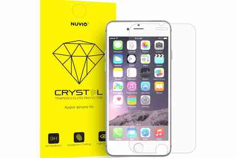 Gift Mountain - Nuvio tempered glass screen protector for iPhone, Samsung, Google Nexus, LG or Sony Xperia - Save 80%