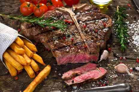 The Stag - Steak Meal with Sides and Wine or Beer for Two, Four or Six - Save 55%
