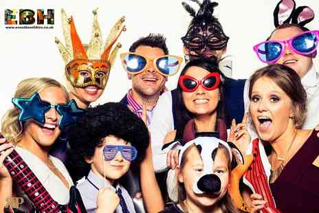 Event Booth Hire - Three hour photobooth hire including 200 prints - Save 56%