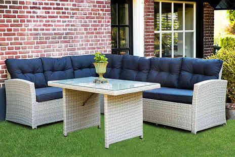 Out and Out Original - Wentworth five seater corner rattan set - Save 62%
