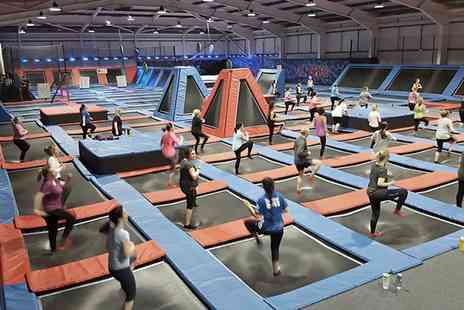 Energi Trampoline Park - Trampoline Jumping Session with Cordial and Socks Hire for One or a Family - Save 40%