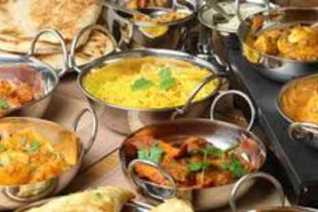 Southern Spice - Ten dish Indian tasting meal for two with a small glass of wine and tea or coffee - Save 63%