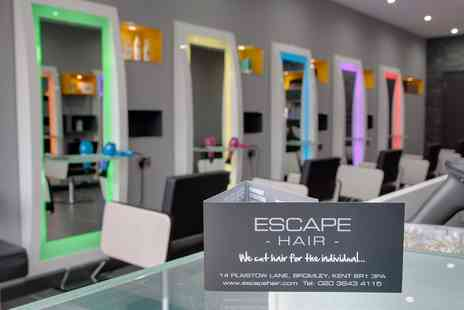 Escape Hair Bromley - 1/2 Head Highlights, Cut & Blowdry With Treatment plus scalp massage - Save 41%