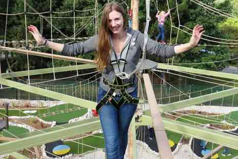 Altitude Adventure - High Rope Adventure Course for Two or a Family of Four - Save 33%