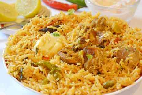 Taste of Raj - Two-Course Meal with Rice for Two or Four - Save 54%