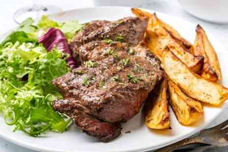 Angel Upstairs - Guildford Brasserie Steak Meal & Bubbly for 2 - Save 44%