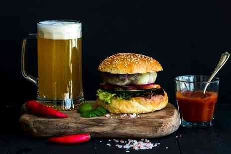 2k Steak House - Burger with Chips and Beer for Up to Four - Save 38%