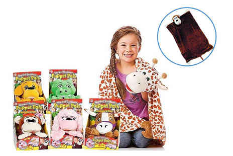 Heads Group - Kids puppet pal blanket choose from six designs - Save 77%