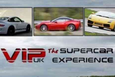 VIP UK Experience Days - Supercar Experience Three Laps in Three Cars Such As Ferrari and Lamborghini - Save 74%