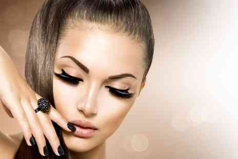 For Him & Her Beauty Clinic - Individual eyelash extensions or Semi permanent eyelashes both with an eyebrow wax - Save 51%