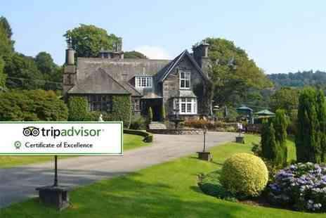 Broadoaks Country House - Overnight Lake District break, including a four course dinner, breakfast, spa access and late check out - Save 44%
