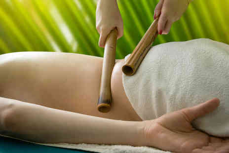 Through the Looking Glass - 50 minute full body bamboo massage including a mini facial and Prosecco - Save 81%