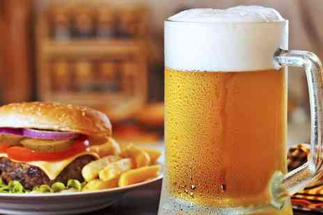 The Corner House - Burger with Chips and Beer or Wine for Two or Four - Save 0%