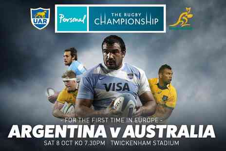 International Sports Investments - Adult Category D ticket to see the Argentina vs Australia rugby match on Saturday, 8th October 2016 - Save 0%