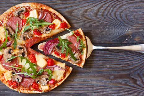 Esca - Italian pizza, pasta or risotto meal for two people including a glass of wine or bottle of beer each - Save 53%