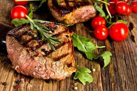 Marcos New York Italian - 10oz ribeye steak meal and bottle of wine for two - Save 42%