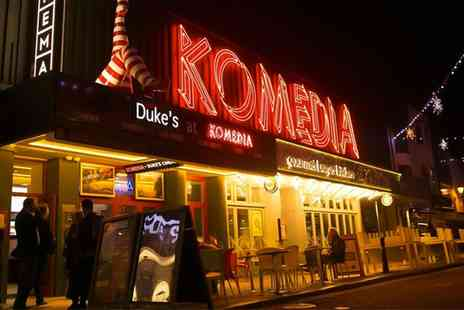 Komedia Brighton - Krater Comedy Club and Burger Meal on 25 September to 27 November at 8 p.m - Save 48%