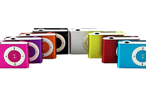eBuzz - Up to 8GB Shuffle MP3 Player Available in Eight Colours - Save 80%