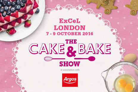 The Cake & Bake Show - Two tickets to The Cake and Bake Show plus a baking gift on 7th to 9th October 2016 - Save 38%
