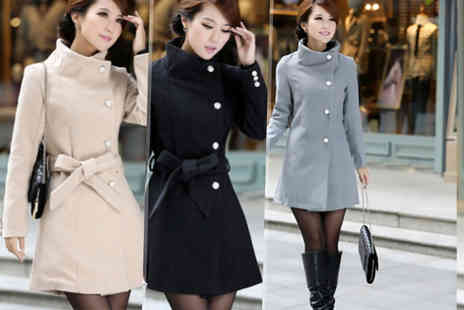 Buy Bay - Womens belted wool coat jacket - Save 56%