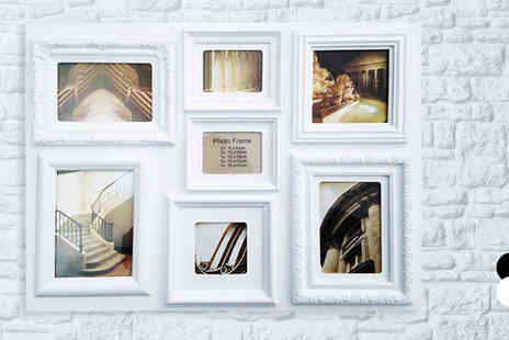 Fusion - Seven Picture Large Rectangular Frame Two Colours - Save 57%