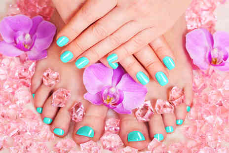 Fabulous Nails & Beauty - Shellac manicure or shellac manicure and pedicure - Save 64%