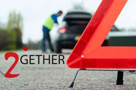 2Gether Motor Breakdown - One Year Full UK Motor Breakdown with Home Assistance - Save 73%