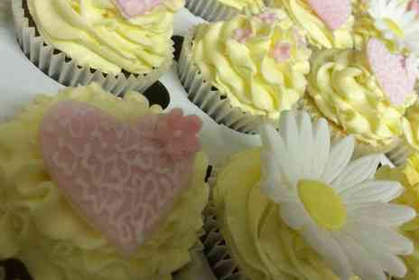 Cupcakes 2 Love - Choice of 72, 96 or 144 Bespoke Wedding or Party Cupcakes - Save 0%