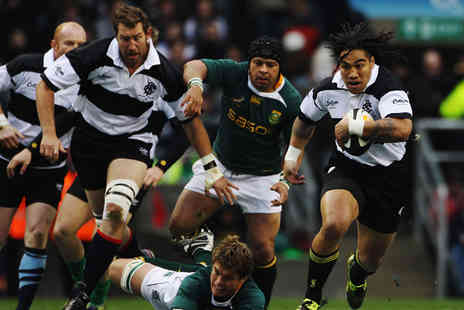 International Sports Investments - Ticket to see the Barbarians vs South Africa rugby match at Wembley Stadium on Sat 5th November - Save 0%