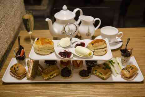 Cafe in the Crypt - Afternoon tea for two include a glass of bubbly each or bottle of bubbly - Save 57%