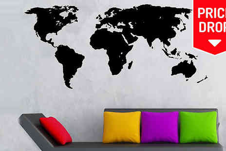 Spicy Decor - World Map Chalkboard Decal - Save 83%