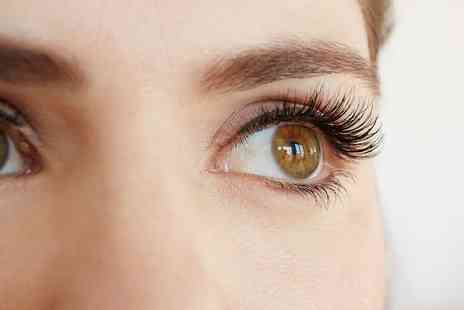 Glam Laser Clinic - Half or Full Set of Eyelash Extensions with Optional Eyebrow Tint and Shape - Save 28%