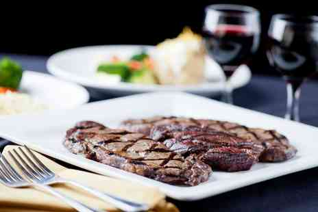 KKs Cafe Bar Grill - Steak Dinner with Wine or Prosecco for Two or Four - Save 40%