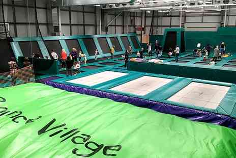 Bounce Village - One Hour Trampoline Park Access for up to Four - Save 30%